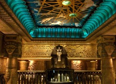The amazing egyptian staircase at Harrods, Knightsbridge