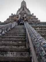 The steep steps going up