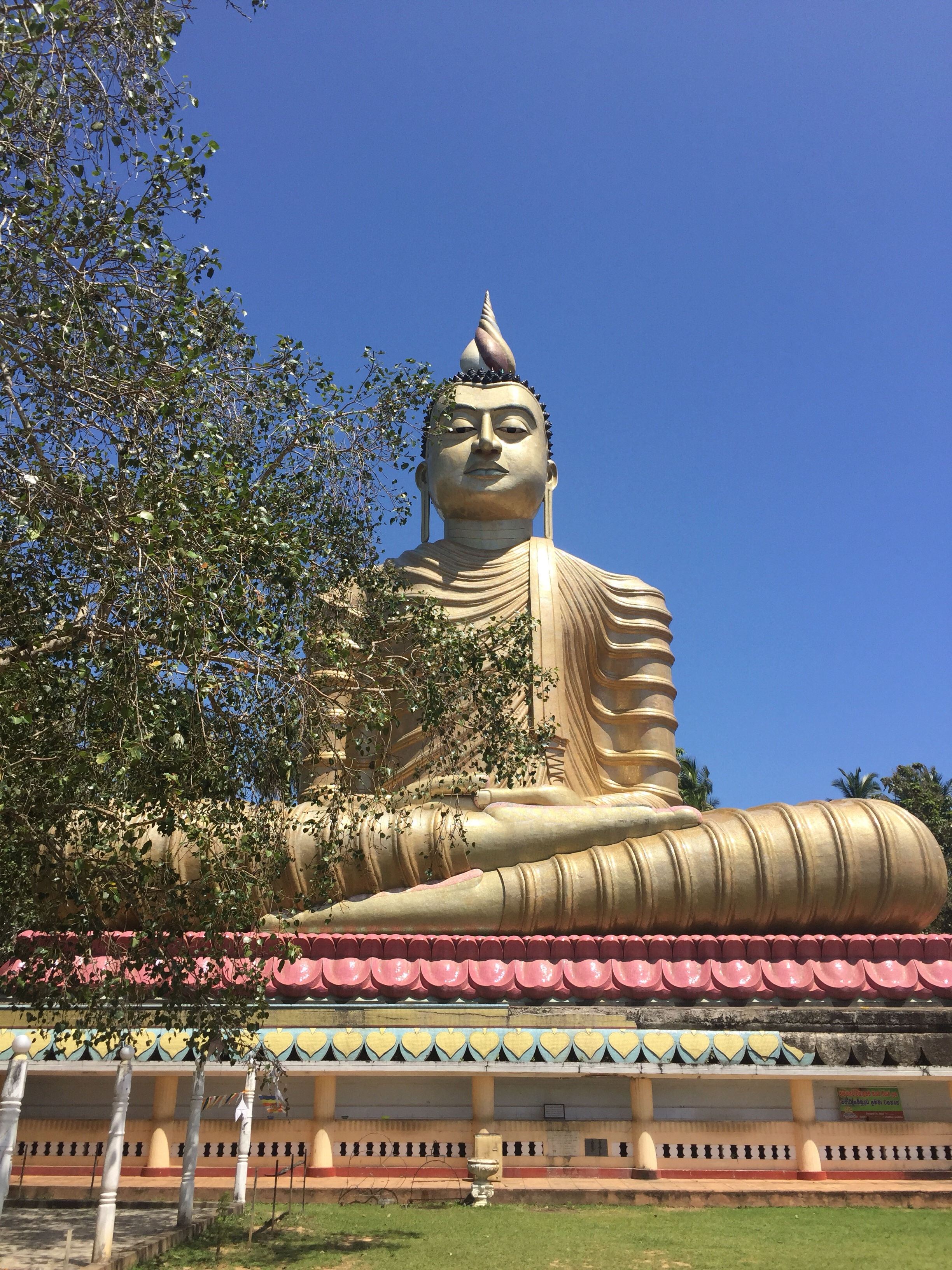 Tallest Buddha statue on the island 50 metres